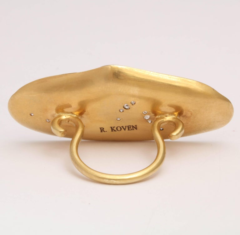 Women's Rebecca Koven Gold Shell Ring For Sale