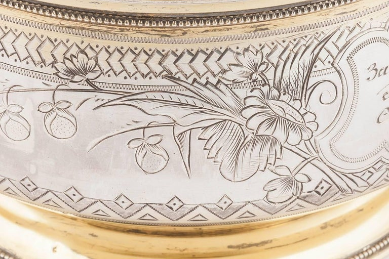 Large Russian Silver Sugar or Sweetmeat Bowl, Moscow, 1896 In Excellent Condition For Sale In New York, NY