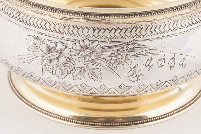 Large Russian Silver Sugar or Sweetmeat Bowl, Moscow, 1896 For Sale 3
