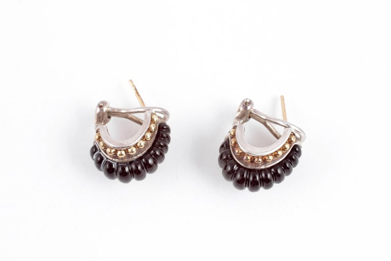 """""""Interlude"""" by """"Lagos"""" Black Onyx Earrings For Sale 2"""