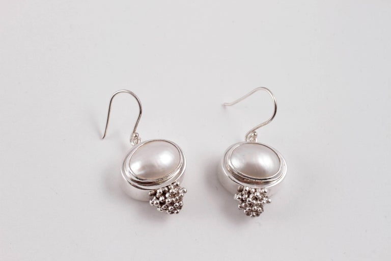 In sterling silver, these earrings are fun and light to wear!