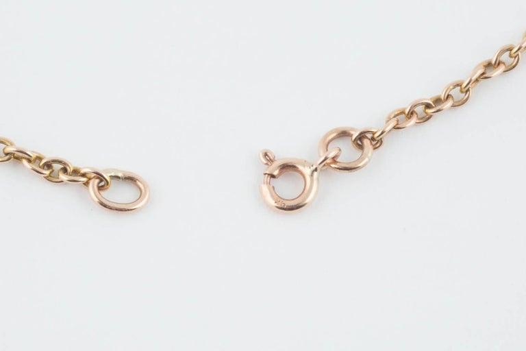 Women's or Men's Rare Russian Gold and Garnet Pendant, circa 1910 For Sale