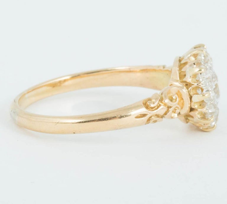 Victorian Diamond Cluster Ring In Excellent Condition For Sale In London, GB