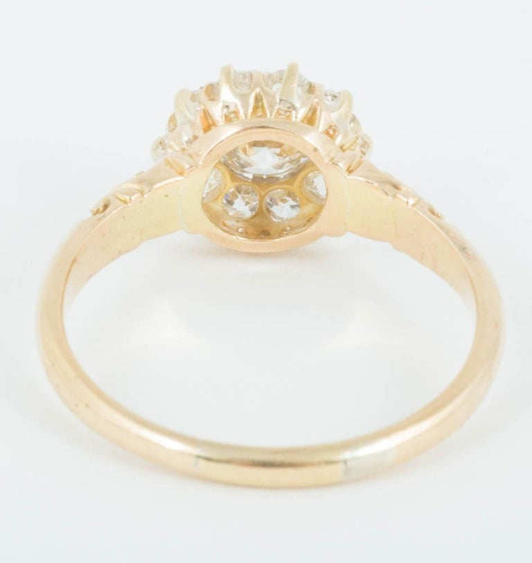 Women's Victorian Diamond Cluster Ring For Sale