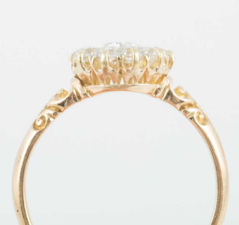 Victorian Diamond Cluster Ring For Sale 2