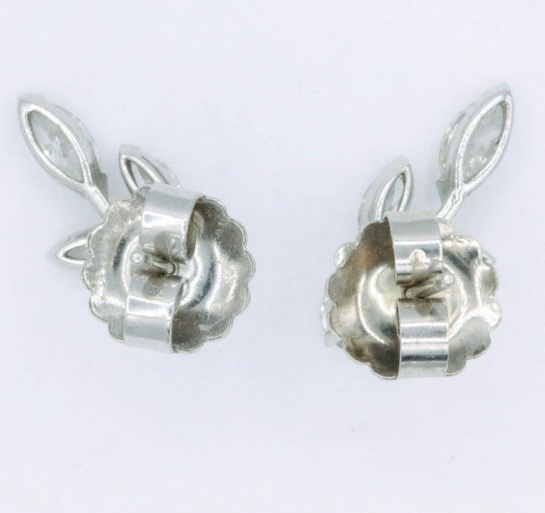 Women's Diamond Earring Climbers, 1.70 Carat For Sale