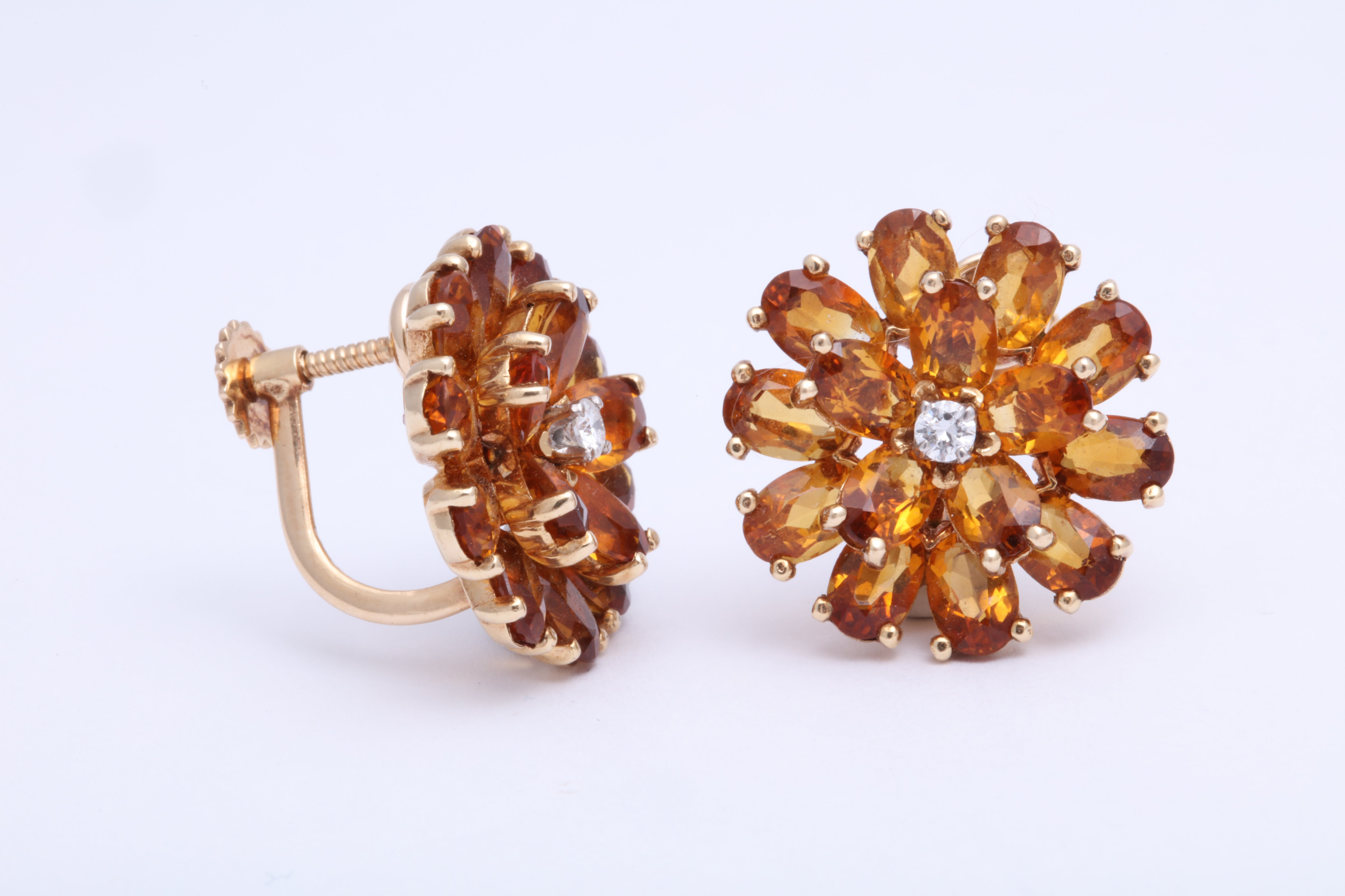 856fd15dad568 Tiffany & Co. Citrine and Diamond Earrings