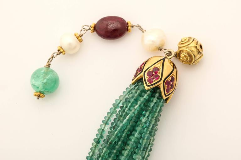 Unique Emerald Bead Bracelet For Sale 1