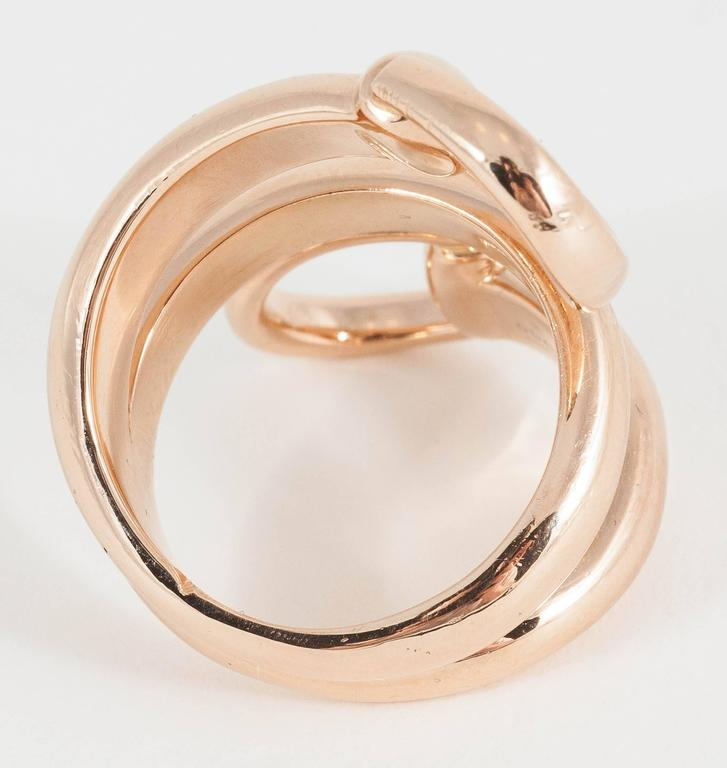 gucci gold horsebit ring for sale at 1stdibs