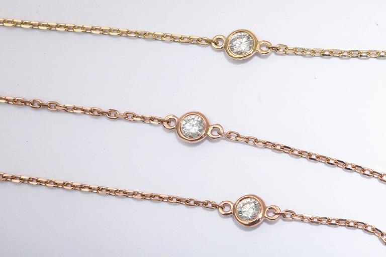 Women's or Men's Diamond Gold Chain Necklace For Sale