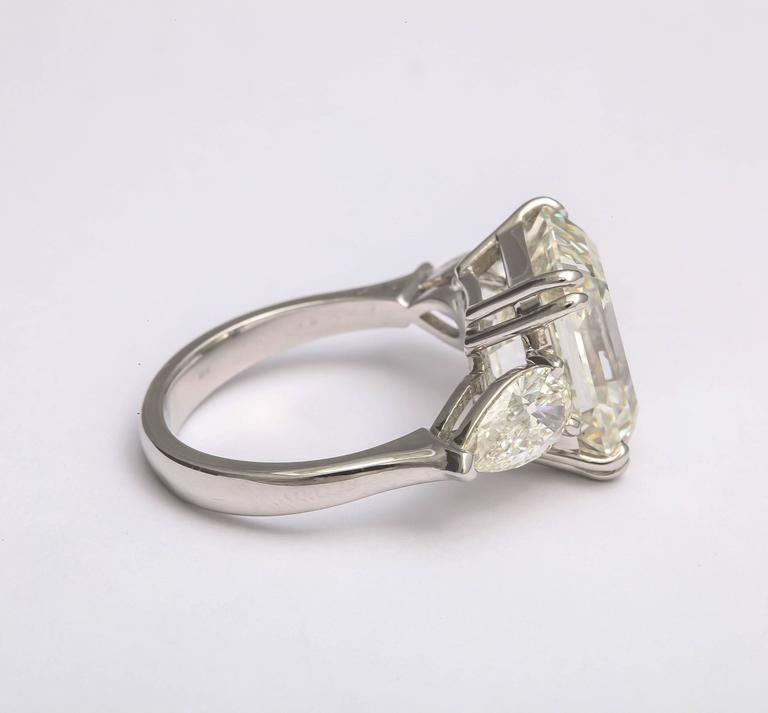 Women's or Men's Sensational Emerald Cut Diamond Ring For Sale