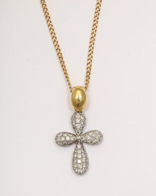 Diamond Gold Cross Pendant on Chain 3