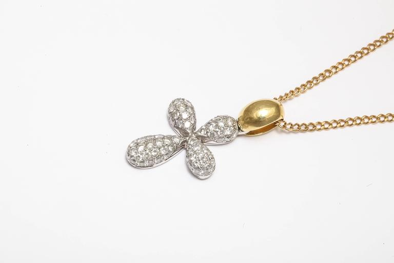 Diamond Gold Cross Pendant on Chain 4