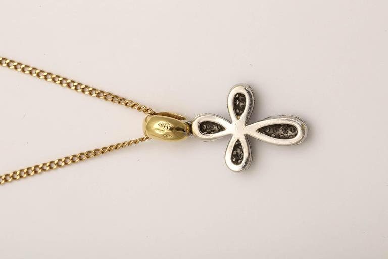 Diamond Gold Cross Pendant on Chain 5