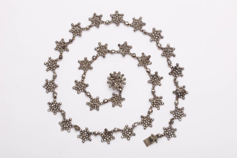 George IV Antique Georgian Cut Steel Star Necklace For Sale