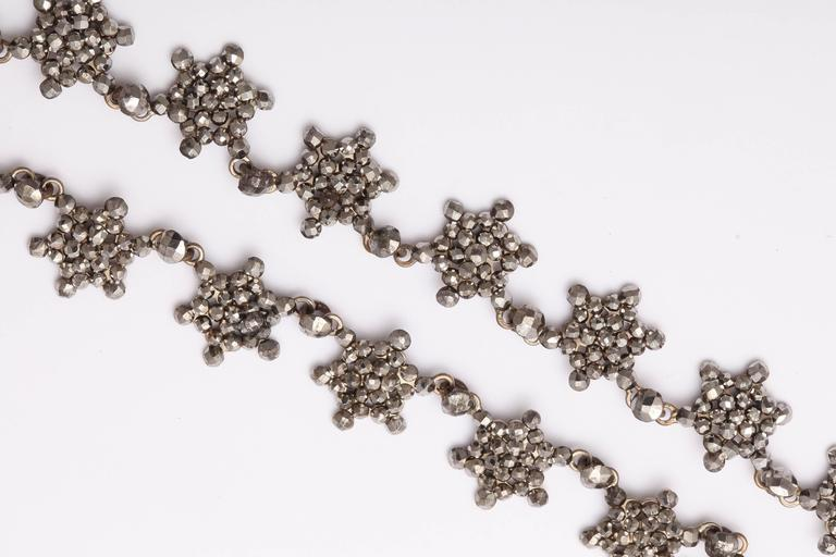 Antique Georgian Cut Steel Star Necklace For Sale 2