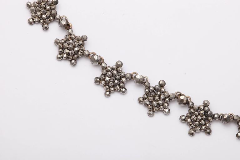 Antique Georgian Cut Steel Star Necklace For Sale 3