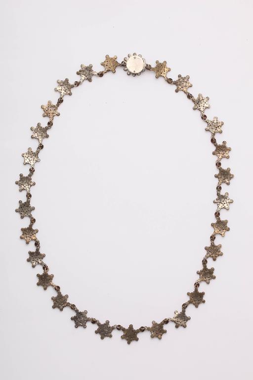 Antique Georgian Cut Steel Star Necklace For Sale 5