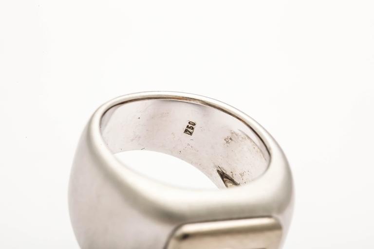Women's or Men's Heavy Citrine Ring For Sale