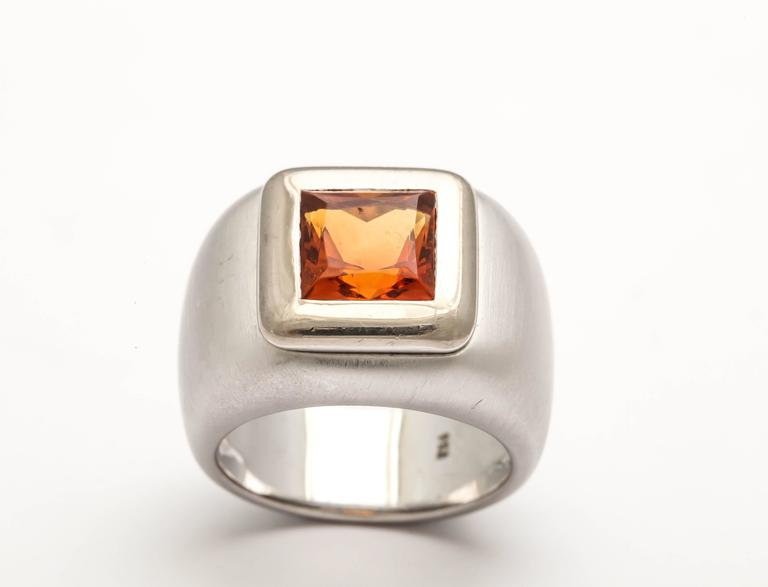 Heavy Citrine Ring For Sale 1
