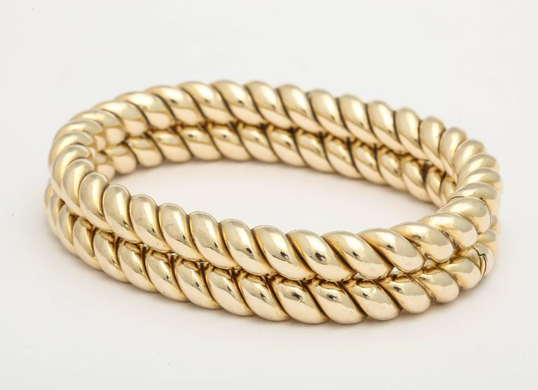 koven full twisted gold bangles rebecca bangle