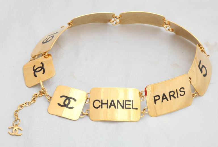 Extremely Rare Vintage Chanel COCO Plate Belt 2