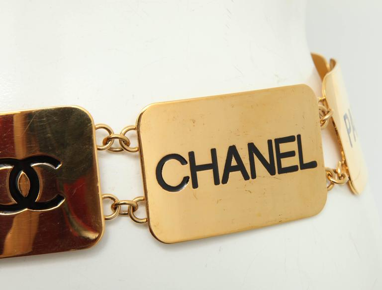 Extremely Rare Vintage Chanel COCO Plate Belt 6