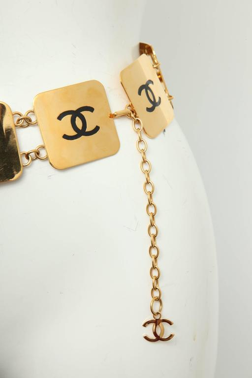 Extremely Rare Vintage Chanel COCO Plate Belt 9