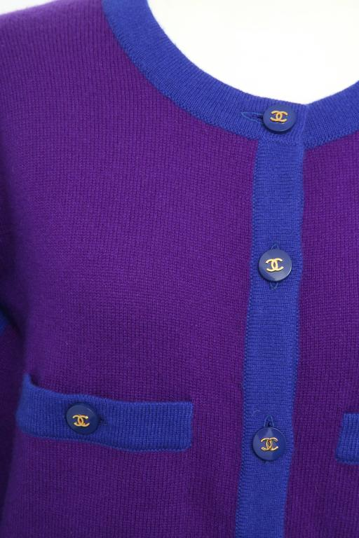 Chanel Rare 90's Cashmere Cardigan Sweater with CC Buttons 38 2