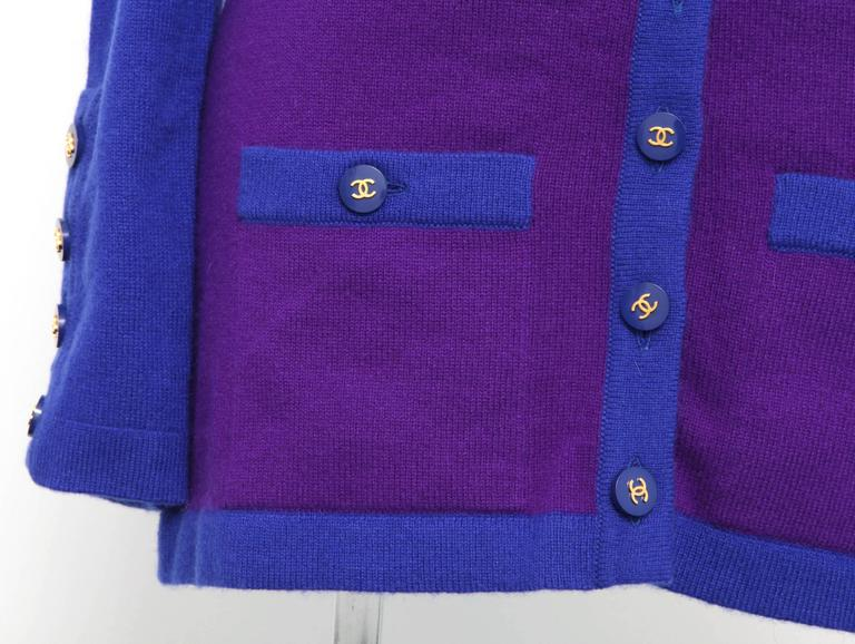 Chanel Rare 90's Cashmere Cardigan Sweater with CC Buttons 38 3