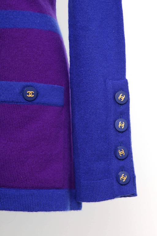 Chanel Rare 90's Cashmere Cardigan Sweater with CC Buttons 38 4
