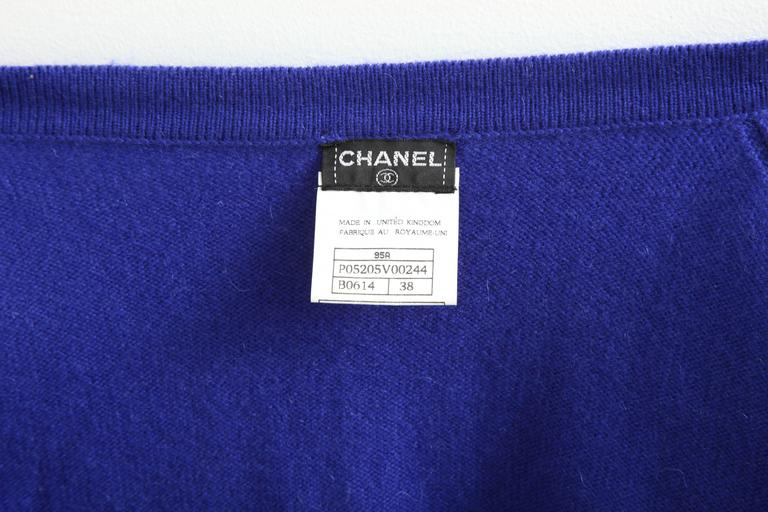 Chanel Rare 90's Cashmere Cardigan Sweater with CC Buttons 38 7