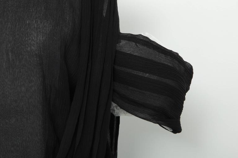 Rodarte Black See-Through Chiffon Gown Dress In New Condition In Chicago, IL