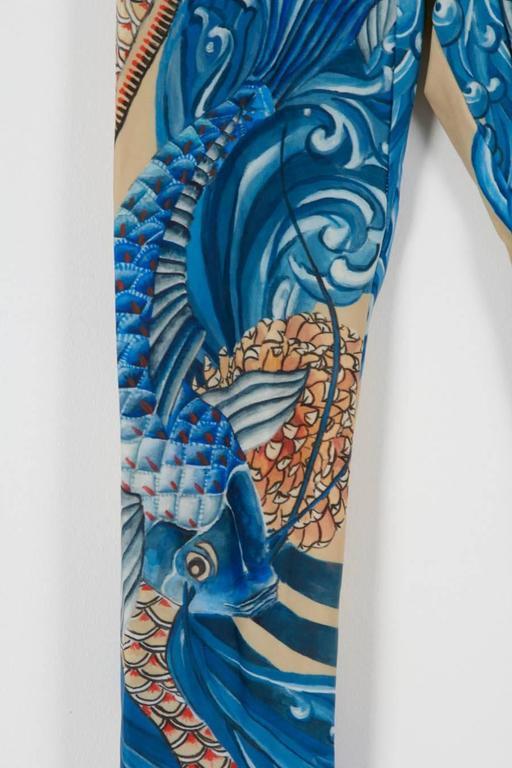 Alexander mcqueen rare koi print leggings for sale at 1stdibs for Rare koi fish for sale