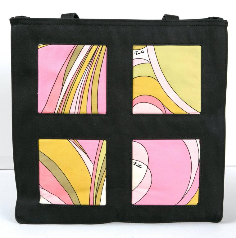 Black Unusual Pucci tote, purse or day bag by funky finders For Sale