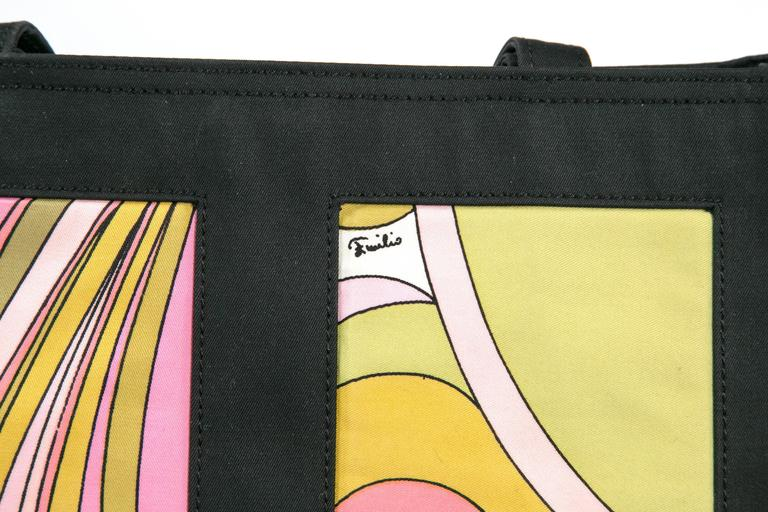 Unusual Pucci tote, purse or day bag by funky finders In Good Condition For Sale In Stamford, CT