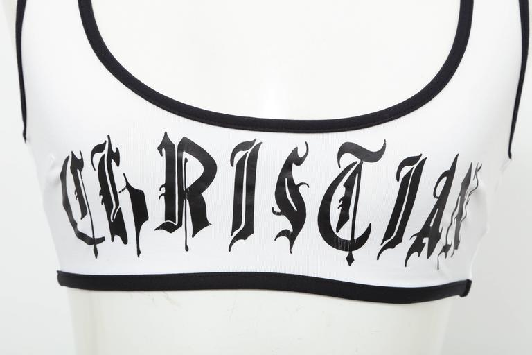 Very rare Christian Dior by John Galliano Bra top. Black and white. French size 36.