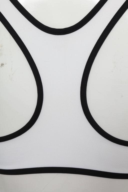 Women's Rare Christian Dior Logo Bra Top by John Galliano  For Sale