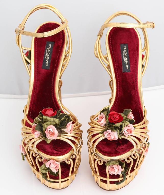 0a19f3726f93 Very rare Dolce and Gabbana Runway Cage Heel Shoes Piece of Art! at ...