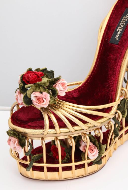 Very rare Dolce & Gabbana Runway Cage Heel Shoes Piece of Art! In New Never_worn Condition For Sale In New York, NY