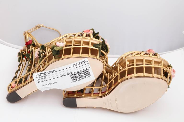beca7b5ead0 Very rare Dolce   Gabbana Runway Cage Heel Shoes Piece of Art! For Sale 1