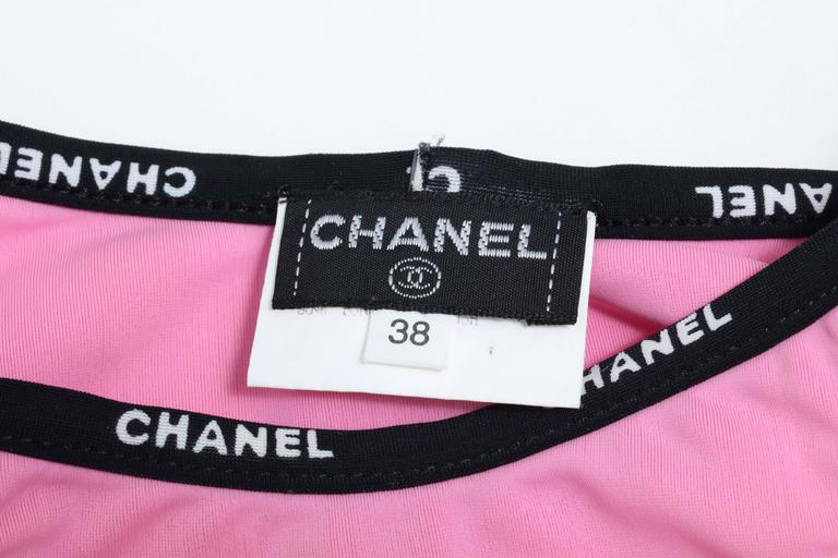 Extremely Rare Chanel Pink Bikini with Logos 5
