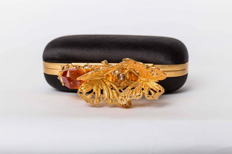 Women's Alexander McQueen Butterfly Knuckle-Duster Box Clutch Bag For Sale