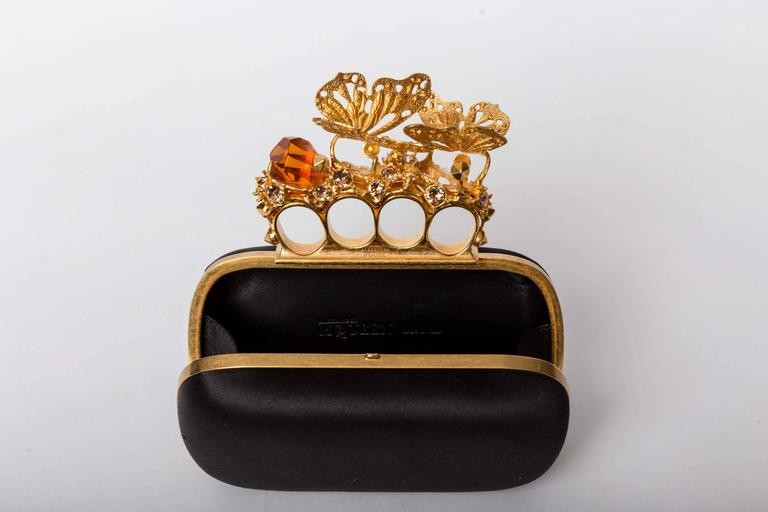 Alexander McQueen Butterfly Knuckle-Duster Box Clutch Bag For Sale 4