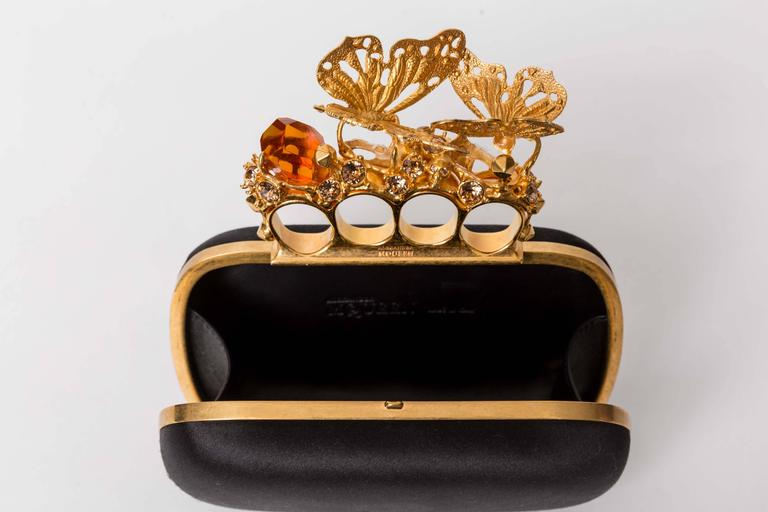 Alexander McQueen Butterfly Knuckle-Duster Box Clutch Bag For Sale 5