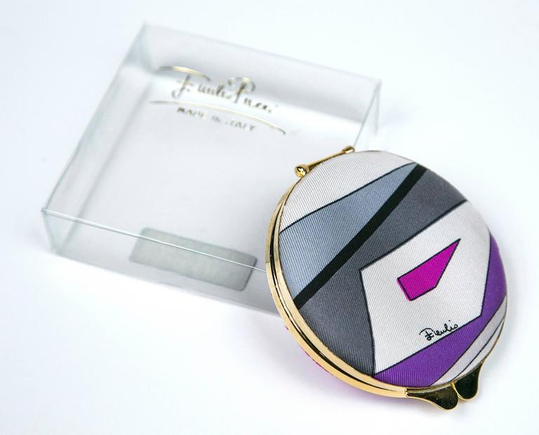 Scarce Vintage Pucci Compact in Box By Funky Finders  2
