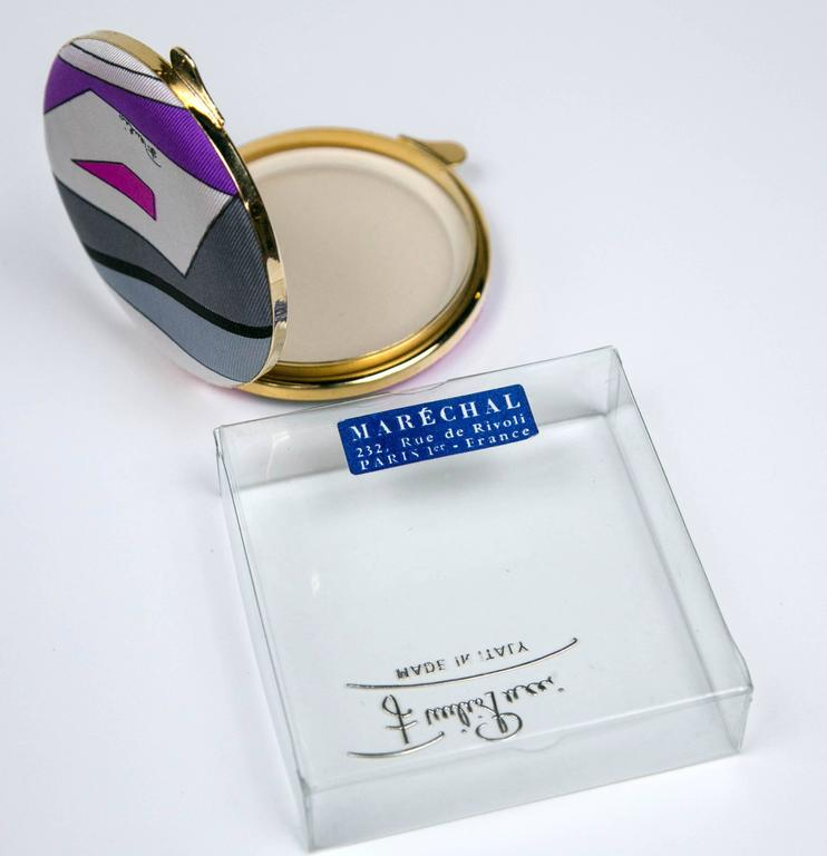 Scarce Vintage Pucci Compact in Box By Funky Finders  7