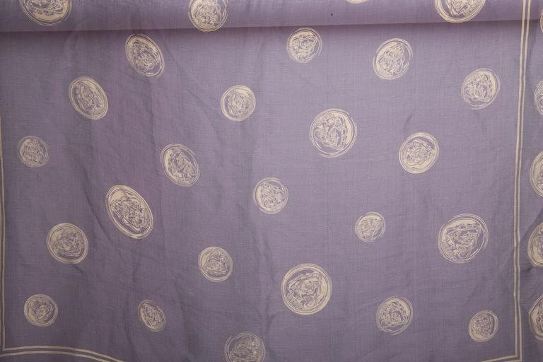 Vintage Gucci Gold Coins Silk Scarf  2