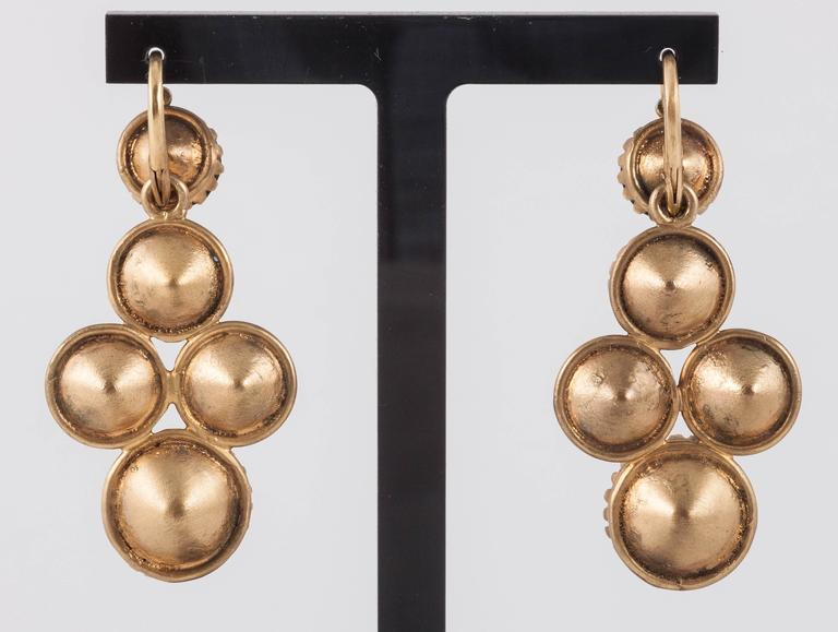 Spectacular Early Victorian costume earrings.  4