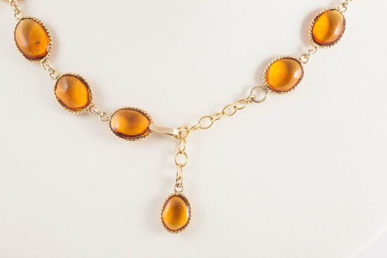 Impressive poured glass and gilt pendant necklace 5